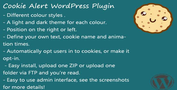 Cookie Alert WordPress plugin