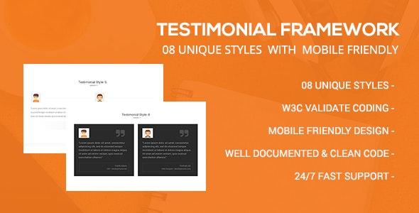 Testimonial Framework - CodeCanyon Item for Sale
