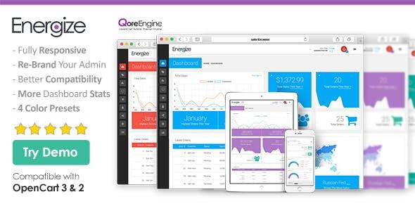 Energize - Premium Responsive OpenCart Admin Theme (Bootstrap)