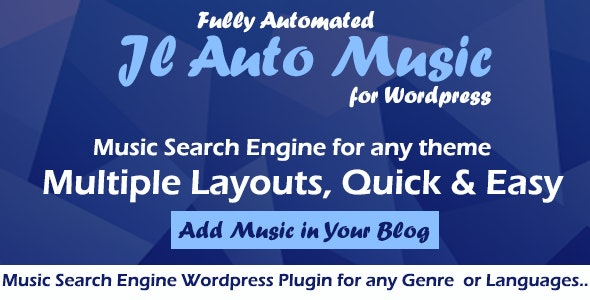 Auto Mp3 Music Search Engine Wordpress Plugin by jlords