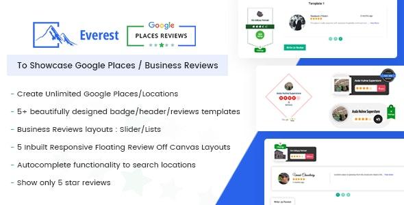 Everest Google Places Reviews - Best WordPress Plugin To