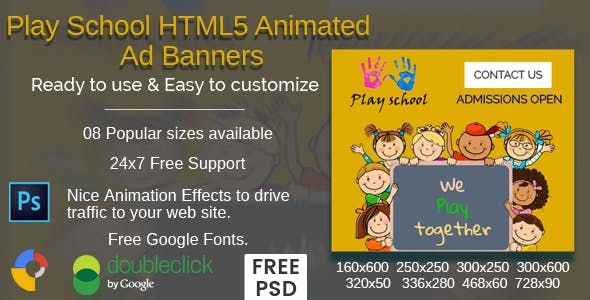Play School - HTML5 Ad Banners - 08 Sizes