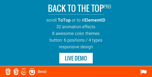 Scroll to Top / ID - 32 Animations - CodeCanyon Item for Sale