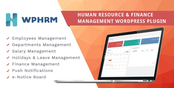 WPHRM - Human Resource and Finance Management WordPress Plugin - CodeCanyon Item for Sale