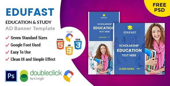 Edufast Education | HTML5 Google Banner Ad
