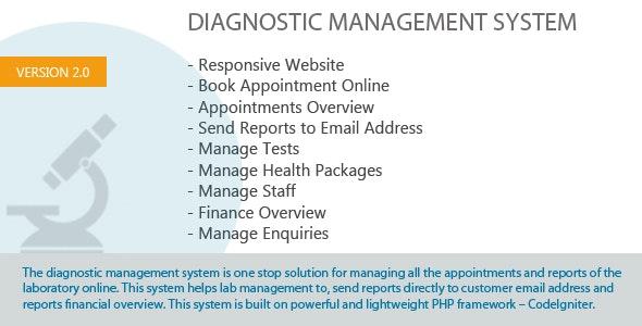 Diagnostic Management System - CodeCanyon Item for Sale