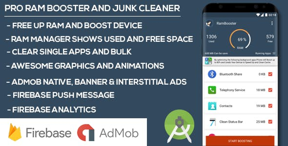 Premium Ram Booster and Junk Cleaner( Admob Integrated)