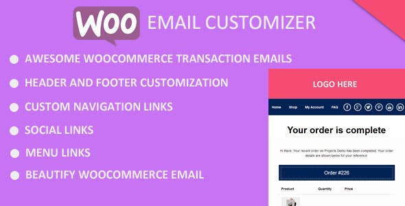 Beautify WooCommerce Emaill by EWEBC