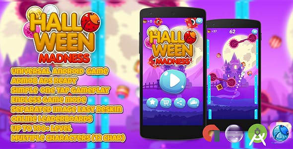 Halloween Madness + Admob (Android Studio + Eclipse) Easy Reskin