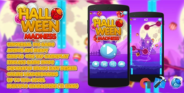 Halloween Madness + IOS XCODE Admob + Multiple Characters - CodeCanyon Item for Sale