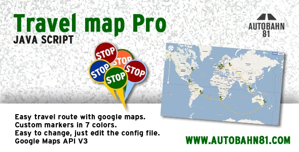 Travel map pro - CodeCanyon Item for Sale