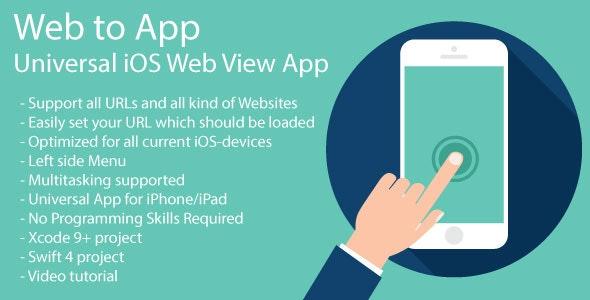 WebToApp | Universal iOS Web View App | iOS 11 and Swift 4 - CodeCanyon Item for Sale