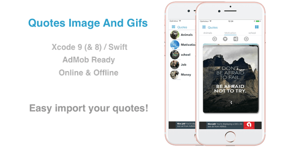 Quotes Image and Gifs - Native iOS App for Images/Gifs Quotes, Motivation, Money ecc.