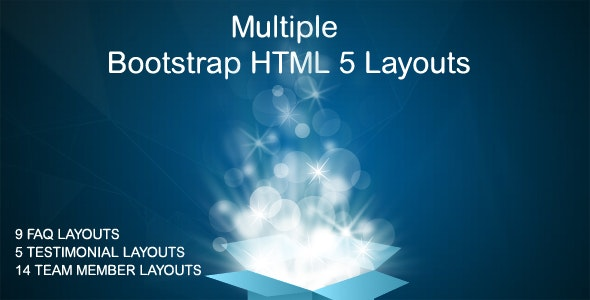 Bootstrap FAQ + Testimonials + Team Layouts - CodeCanyon Item for Sale