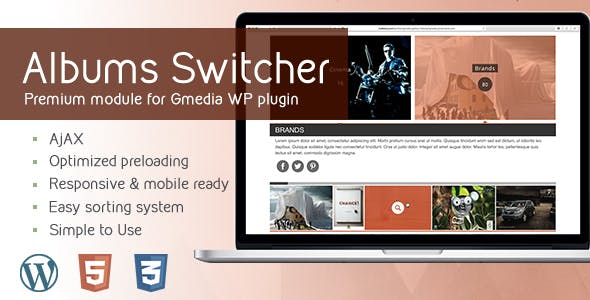 AlbumsSwitcher v1.5 | Gallery Module for Gmedia plugin