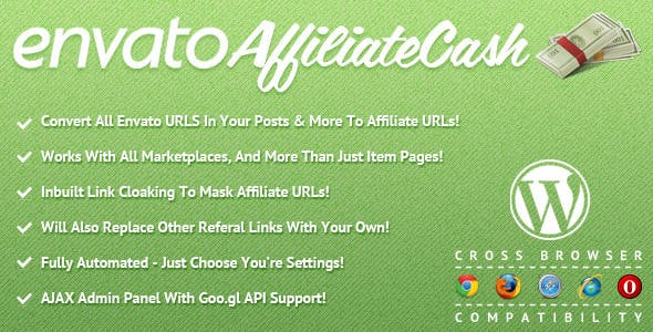Envato Affiliate Cash for WordPress