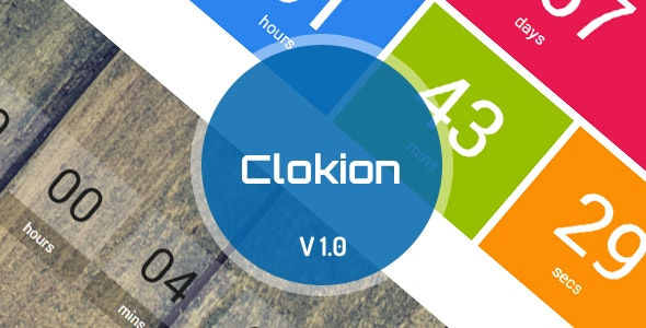 Clokion jQuery - Time Countdown and Countup - CodeCanyon Item for Sale