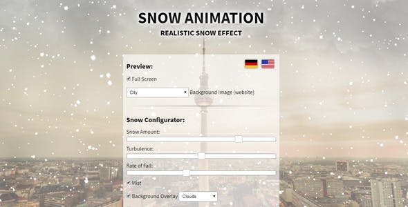 Snow Effect & Animation for Winter & Christmas in javascript