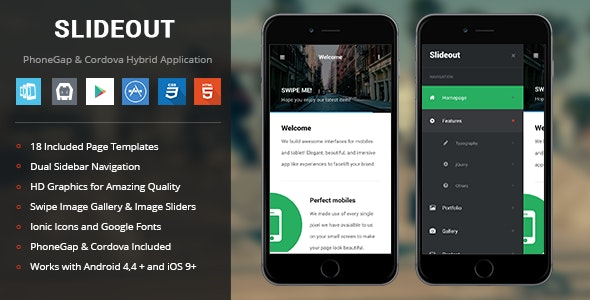 Slideout | PhoneGap & Cordova Mobile App by Enabled | CodeCanyon