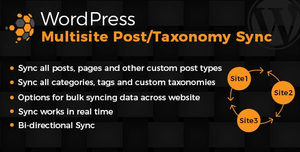 Wordpress Multisite Posts & Taxonomies Sync