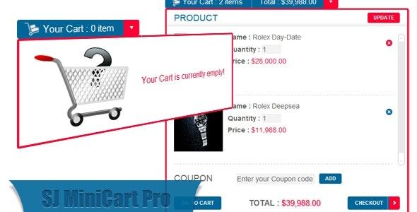 Mini Cart Pro for VirtueMart Joomla Module - CodeCanyon Item for Sale