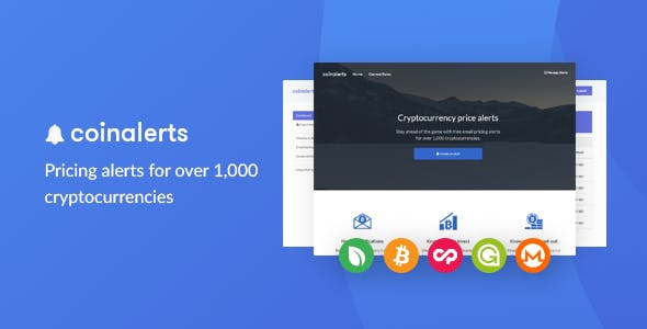 CoinAlerts - Price alerts for 1,000 Cryptocurrencies