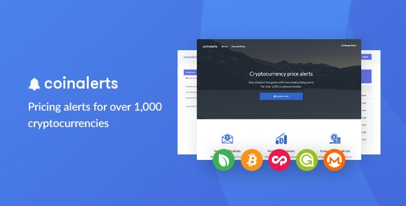 CoinAlerts - Price alerts for 1,000 Cryptocurrencies - CodeCanyon Item for Sale