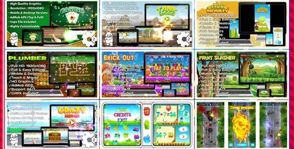 HTML5 GAMES BUNDLE №5 (Construct 3   Construct 2   Capx)
