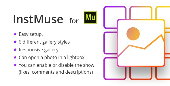 InstMuse - Responsive Instagram gallery with lightbox for Adobe Muse - CodeCanyon Item for Sale