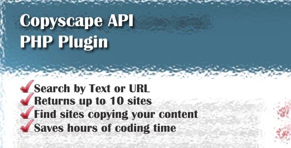Copyscape API PHP Plugin Helper