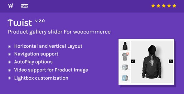 Product Gallery Slider for Woocommerce - Twist        Nulled