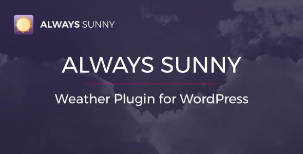 Always Sunny Plugin - WordPress Weather Widget and Shortcode