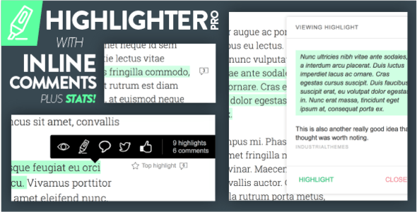 Highlighter Pro: A Medium.com-Inspired Text Highlighting and Inline Commenting Tool for WordPress - CodeCanyon Item for Sale