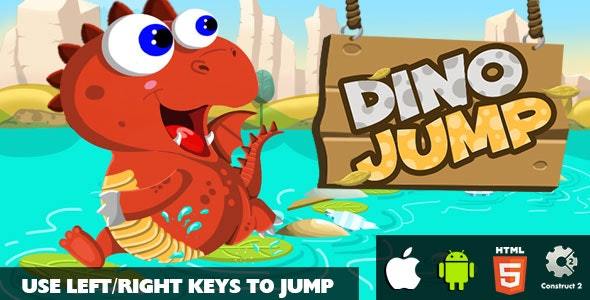 Dino Jump - HTML5 Game (CAPX) - CodeCanyon Item for Sale