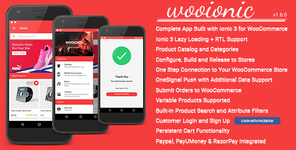 WooIonic – Ionic 3 App for WooCommerce