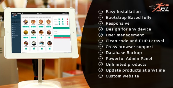 Easy POS and Restaurant Solution with Hold Tables - CodeCanyon Item for Sale