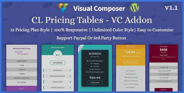 CL Pricing | Pricing Table - VC Addon
