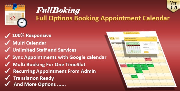 FullBooking - Full Options Appointment Booking and