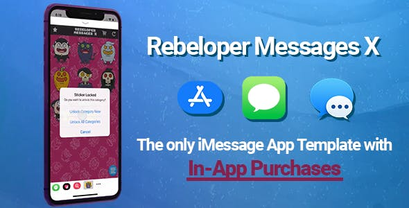Rebeloper Messages - iMessage App in Swift 4.2, iOS 12 and Xcode 10 ready