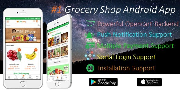 Grocery Shop iOS & Android Mobile App