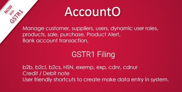 AccountO - Accounting & Inventory Management System ( GST Compliance )