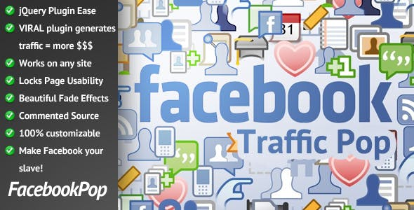 Facebook Traffic Pop for WordPress        Nulled