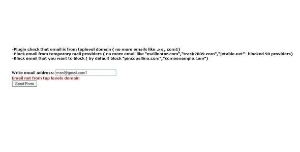 NoSpam – CustomValidator