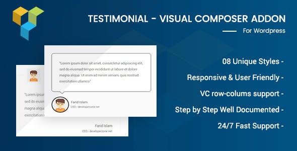 Testimonial - Visual Composer Addon