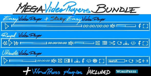 Mega Video Players Bundle by FWDesign | CodeCanyon
