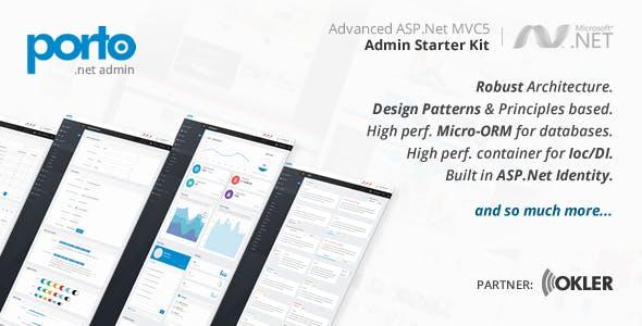 Porto Admin .Net (Starter Kit)