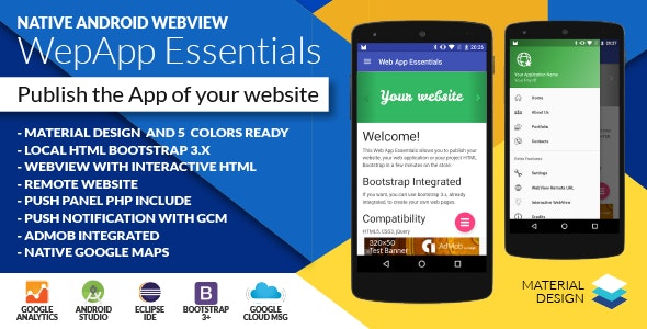 Android Web App + Push Web Panel - CodeCanyon Item for Sale
