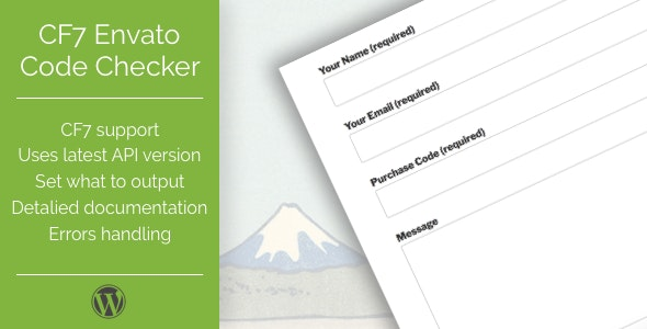 CF7 Envato Purchase Code Checker - CodeCanyon Item for Sale
