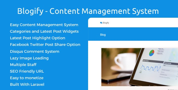 Blogify - Content Management System - CodeCanyon Item for Sale