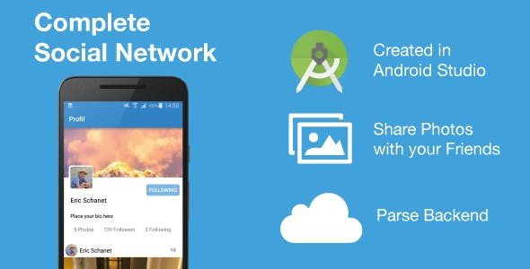 Social Network - Working social networking app (Android)